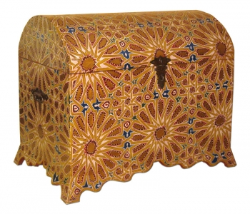 Orient Holz- Truhe Berber B85xT52xH68cm
