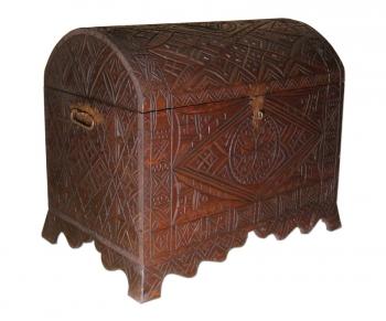 Holztruhe aus Marokko Berber B85xT52xH67cm