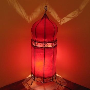 Stehlampe aus Leder Sulaiman H110 x D32cm