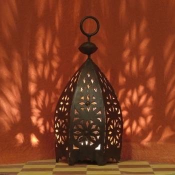 Schmiedeeiserne Laterne aus Marokko MSEDDES H35cm