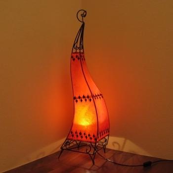 Orientalische Lederlampe Cheval H100cm