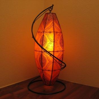 Marokkanische Lederlampe Gadra H95cm