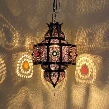 Orientalische Deckenlampe Palas-K aus Metall,