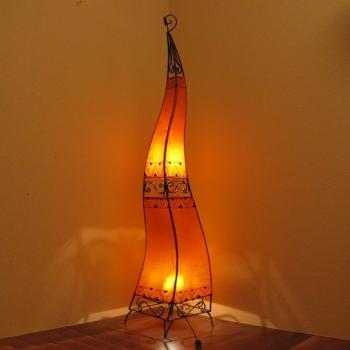 Stehleuchte aus Marokko CHEVAL H160cm Orange