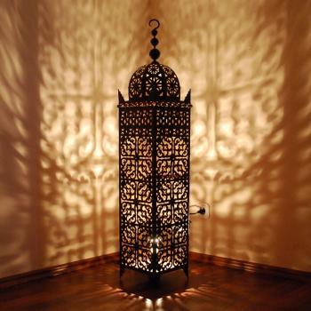 Marokkanische Laterne aus Eisen SAMA-XXL H160cm.