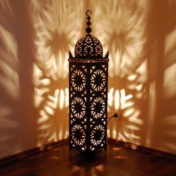 Marokkanische Eisenlaterne Jama-Warda-special H120cm