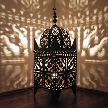 Eisenlaterne aus Marokko Jama100 H100cm