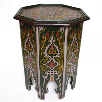 Orientalischer Beistelltisch aus Holz, Handbemalen in Maurischen- Stil.