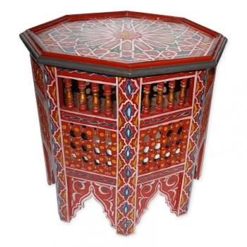 Orient Beistelltisch aus vollem Holz, Handbemalen Mauricher-Stil. H50 x B55cm