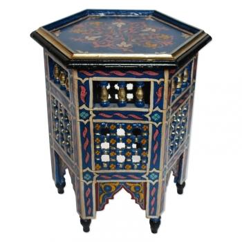 Orientalischer Beistelltisch aus Marokko, Handbemalen in Maurischen- Stil.