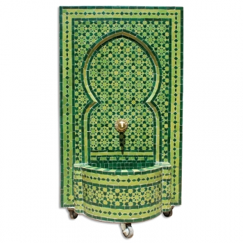 Orientalischer Mosaikbrunnen Warda 130x70 cm Grün