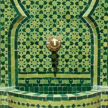 Orientalischer Mosaikbrunnen