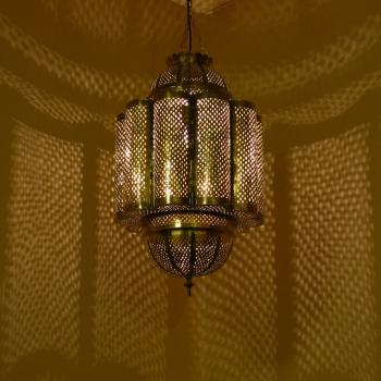 Orientalische Messinglampe Amira