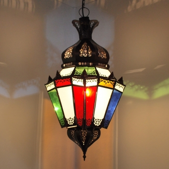Arabische Deckenlampe Argana Multi-H67cm