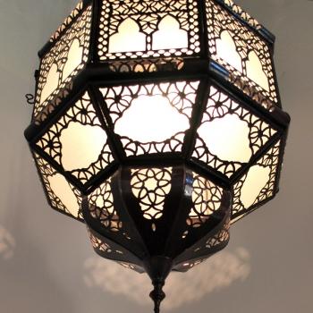 Marokkanische Hängeleuchte TITIA 2KOS Weiss