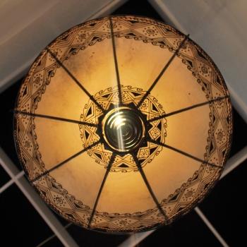 Deckenleuchte aus Leder ROSSOR NATUR D50cm