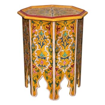 Orient Teetisch aus Vollem Holz Khabori.