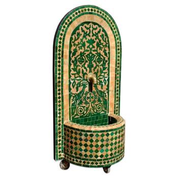 Mosaikbrunnen Taous 120x61cm grün