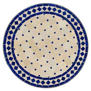 Gartentisch aus Marokko D60cm Blau/Beige