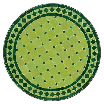 Mosaik Tisch D60cm KHDIDRA Hellgrün