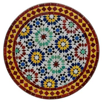 Bistrotisch aus Mosaik ANKABUT D60cm Rot