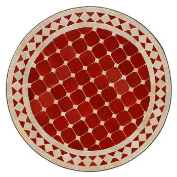 Gartentisch aus Marokko Bordeaux/Beige D60cm