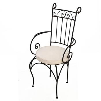 Gartenstuhl aus Eisen Madina mit Armlehne