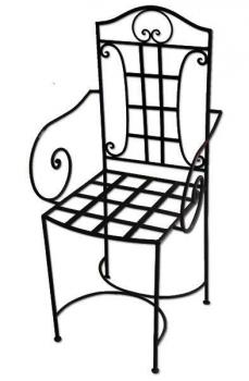 Gartenmöbel, Eisenstuhl Raha mit Armlehne