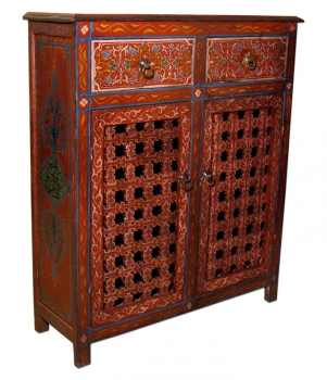 Marokkanischer Schrank Handbemalt