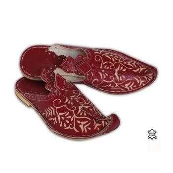 Orientalische Schuhe Mkaschar bordeaux