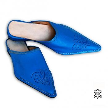 Marokkanische Leder-Pantolette Türkis