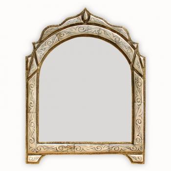 Marokkanischer Spiegel Loudaya weiss H55cm