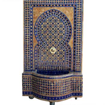 Mosaik Brunnen aus Marokko Braya 130x70 cm