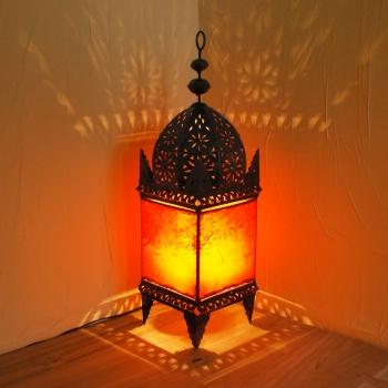 Metall/Leder Stehlampe Desert