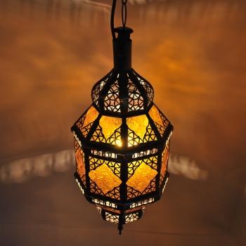 Marokkanische Hängeleuchte Titia Amber