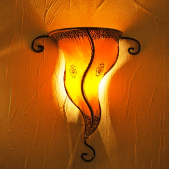 Orient  Wandlampe Garn orange