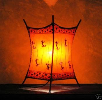 Orientalische Tischlampe Lezard für Kerzenbeleuchtung