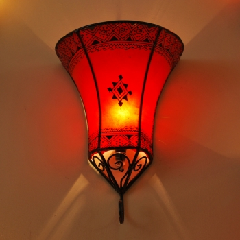Leder- Wandlampe NAKOS