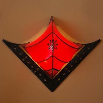 Leder- Wandleuchte Raya  rot