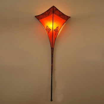 Leder- Wandleuchte RAYA-1 Orange