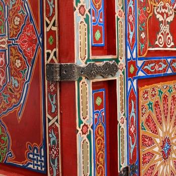Mauricher Stil - Schrank aus Marokko