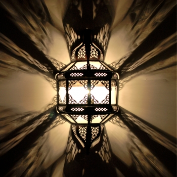 Orientalische Glas-wandleuchte TITA