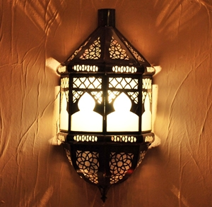 Arabische Wandlampe aus Glas Toboga