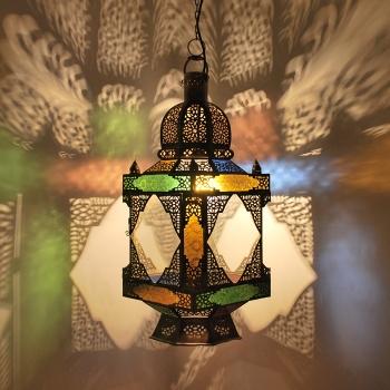 Orientalische Hängeleuchte MESSING-CARE-S aus Messing
