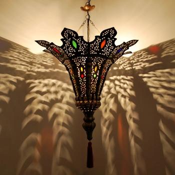 Marokkanische Leuchte Najma aus Messing.