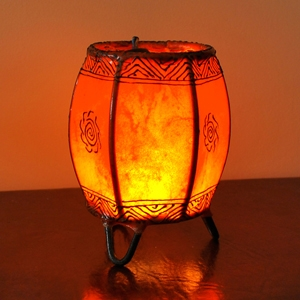 Orientalische Windlichter BERMIL Orange