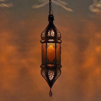 Marokkanische Lampe - SULTANA - Amber