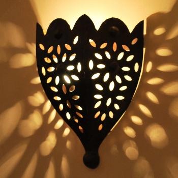 Marrokanische Wandlampe aus Kunstschmiedeeisen