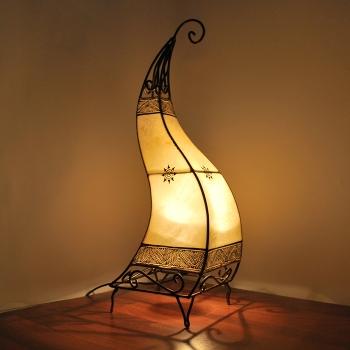 Orientalische Lederlampe Canar H70cm
