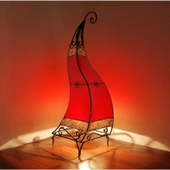 Orientalische Lederlampe Canar H72cm